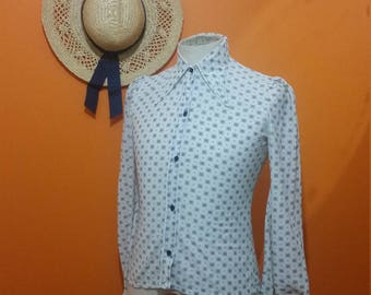 70s dagger collar shirt