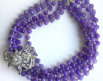 Vintage Periwinkle Necklace