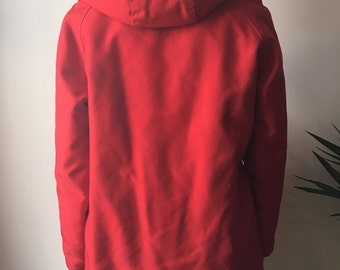 Red Vintage Raincoat