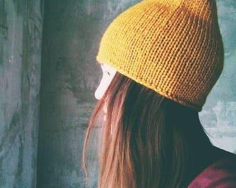 Hand made Knit Beanie, Beanie Hat, Womens Spring Hat, Unisex Ski Hat, Mens Wool Hat, Custom Color, beanie, Wool Hat