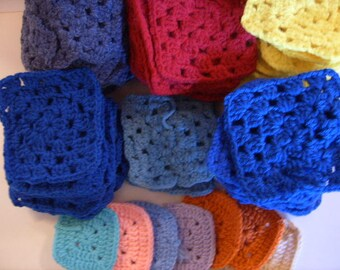 Vintage Granny Squares,Crocheted Granny Squares