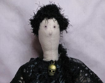 Greta - Gothic Tilda-style doll