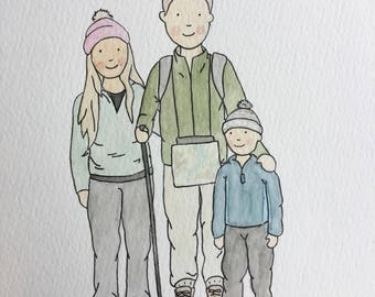 Custom Couple / Family Portrait Watercolour Illustration