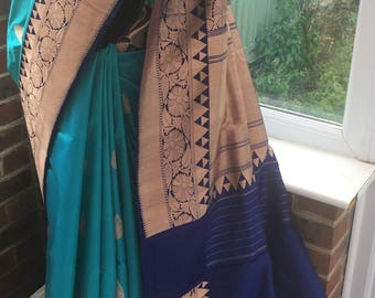 Hand Woven Pure Benarasi Silk Saree.