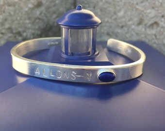 Allons-y Doctor Who Sterling Silver Bracelet
