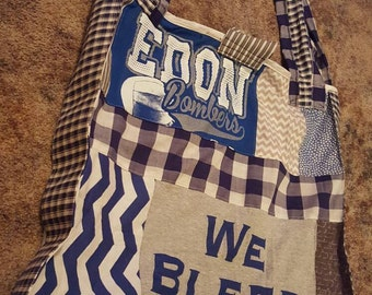 Bomber school themed tote/library  size bag