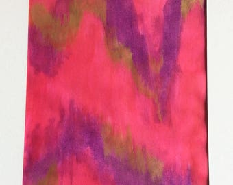 Pink ikat style abstract painting