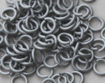 18 gauge 5/32 anodized aluminium saw cut jump rings bag of 100