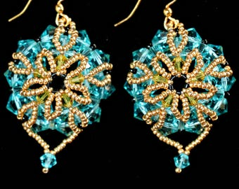 Palm Island - handmade earrings