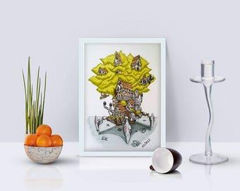 The Walking Tree - fine art print-