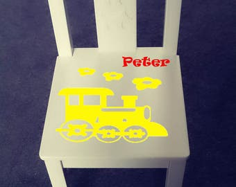 Personalized kids chair - Train