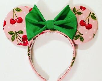 Cherry print ears