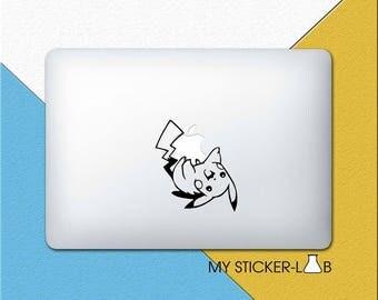 Pikachu MacBook Decal Pokemon Pikachu MacBook Sticker Pikachu Sticker Pikachu Decal Pokemon Stickers Pokemon Decal Anime Sticker m149