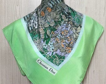 "Free post Authentic Christian Dior silk scarf (29.5""x31.5"") C 134"