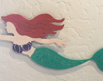 The Little Mermaid Themed Metal Wall Decor