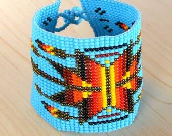 in ethnic bead Cuff Bracelet