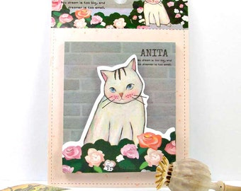 Cat double sticky notes kawaii memo pad