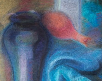 Still Life, 2006 // Pastels on paper by Sanda Vo // Bright Colorful Mood Artwork
