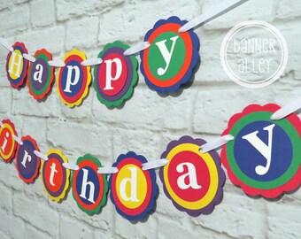25%OFF Rainbow Birthday Banner ~ Photo Prop ~ Birthday Party Decorations ~ Happy Birthday ~ Rainbow Birthday ~ Happy 1st Birthday ~ Colorful