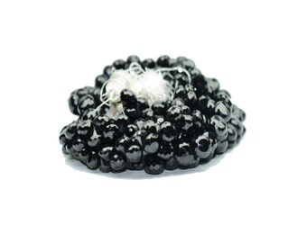 AAA Quality Natural BLACK SPINEL Onion Shape\ 10 inch strand approx