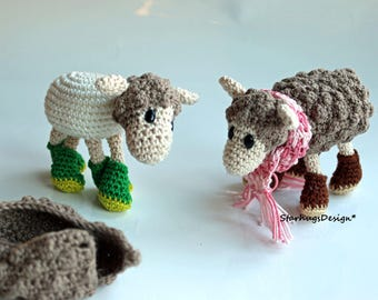 Sheep with removable coat, starhugsdesign crochet pattern / amigurumi