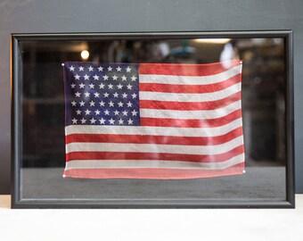 Framed Vintage 49 Star American Flag
