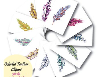 Colorful Feather Clipart