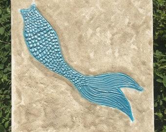 Turqouise Mermaid and Beach Sand Wall Decor