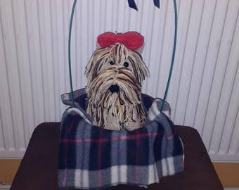 crochet yorkie dog