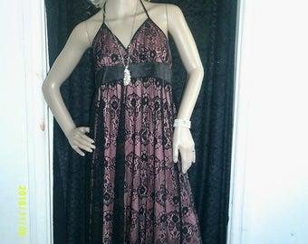 Lace halter neck dress