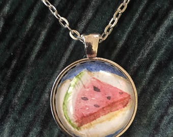 Summer Watermelon Mini Art Pendant
