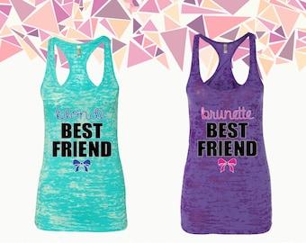 Blonde Best Friend Brunette Best Frined Tank Top Bff Tank Best Friend Forever Women Tank Ladies Tank Burnout Racerback Tank Gift For Bff