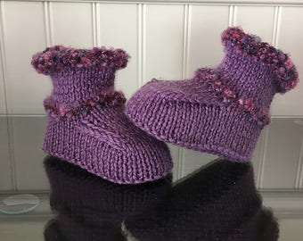 Booties for baby girl 0-3 months