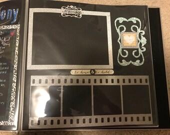 Film Reel Scrapbook Page