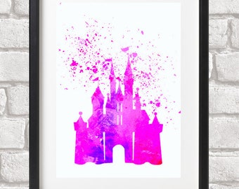 Magic Castle Pink Glicee Fine Art Print