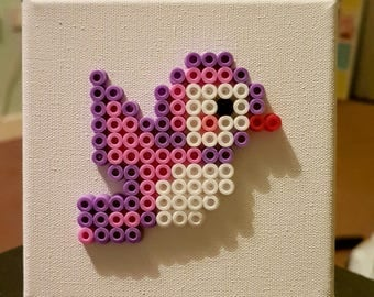 Handmade Hama Bead Bird Picture