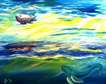 Imagining the World Above -- Original Painting