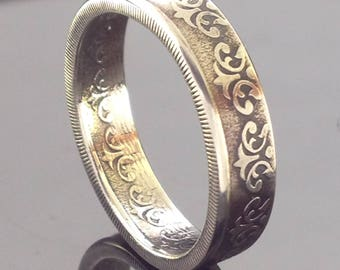 India 50 Paise Half Rupee Coin Ring (1984-1988)