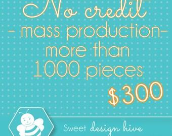NO CREDIT MASS production