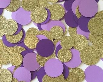 Table Confetti, Gold Confetti, Gold Glitter Confetti, Party Confetti, Purple Confetti, Wedding Confetti, Purple and Gold Confetti, Confetti