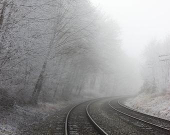 Winter Train Tracks
