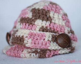 Crochet Newsboy Hat / Baby Hat / Newborn Hat / Baby Shower Gift /