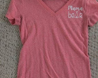 Mama bear left-chest shirt