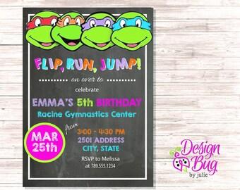 Teenage Mutant Ninja Turtle Birthday Invite