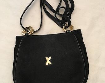 Paloma Picasso Vintage Black Suede Bag