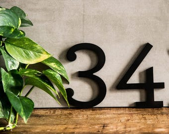 Flat Cut Acrylic House Numbers-Archer