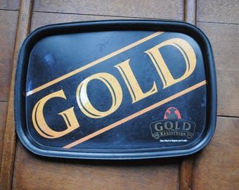 advertising metal GOLD plate