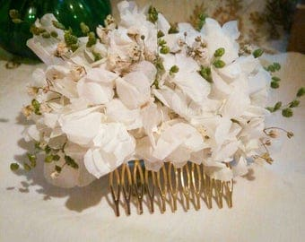 Flower comb / comb wedding / bridal headpiece / played / floristaselam / comb / flower hair comb / pilgrimage / flamenco headdress