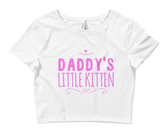 Little Kitten Yes Daddy DDLG Clothing Daddy Dom Slut BDSM Adult Pacifier Onesie Day Collar Choker Baby Girl Princess Pastel Goth Crop Top
