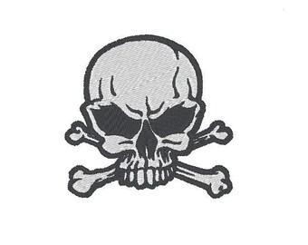 skull and cross bones 2 Embroidery file Digital embroidery files Machine embroidery